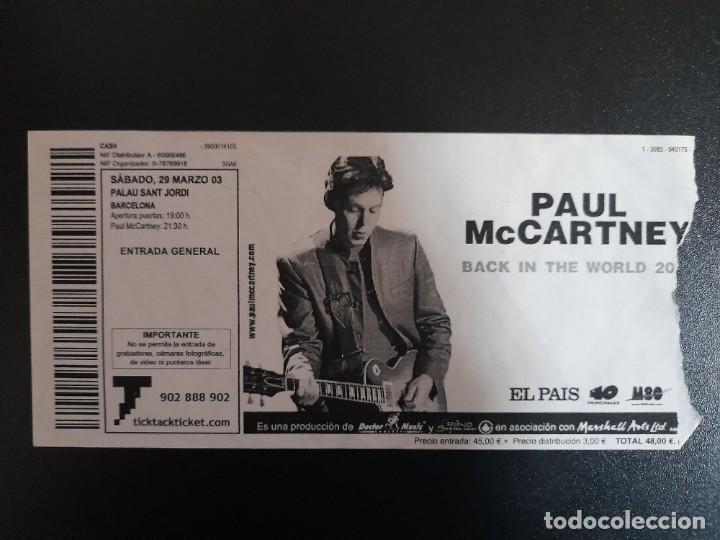 ENTRADA CONCIERTO PAUL MCCARTNEY 29 MARZO 2003 PALAU SANT JORDI BARCELONA BEATLES (Música - Entradas)