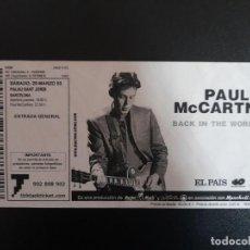 Entradas de Conciertos: ENTRADA CONCIERTO PAUL MCCARTNEY 29 MARZO 2003 PALAU SANT JORDI BARCELONA BEATLES. Lote 246313235