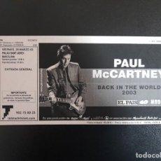 Entradas de Conciertos: ENTRADA CONCIERTO PAUL MCCARTNEY 28 MARZO 2003 PALAU SANT JORDI BARCELONA BEATLES. Lote 246313390