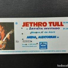 Entradas de Conciertos: JETHRO TULL, ENTRADA CONCIERTO ARENA AUDITORIUM VALENCIA, ABRIL 1992. Lote 246559445