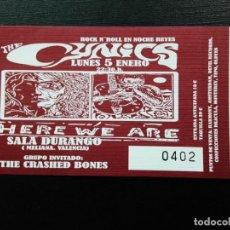 Entradas de Conciertos: ENTRADA CONCIERTO: THE CYNICS, SALA DURANGO, 5-1-2009 VALENCIA. Lote 246724910