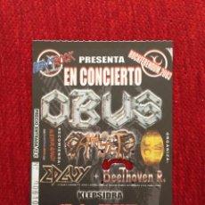 Billets de concerts: R13061 ENTRADA TICKET MUSICA CONCIERTO OBUS BEETHOVEN R. EDAVY 2003. Lote 247146610