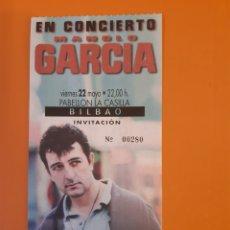 Biglietti di Concerti: ENTRADA A CONCIERTO DE MANOLO GARCÍA EN PABELLÓN LA CASILLA BILBAO AÑOS 90. Lote 247753795
