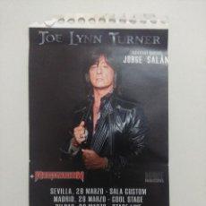 Biglietti di Concerti: ENTRADA DE CONCIERTO/JOE LYNN TURNER + REGRESION/SALA ALBENIZ DE GIJON.. Lote 248503910