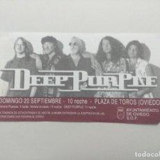 Billets de concerts: ENTRADA DE CONCIERTO/DEEP PURPLE/PLAZA DE TOROS DE OVIEDO.. Lote 248506115