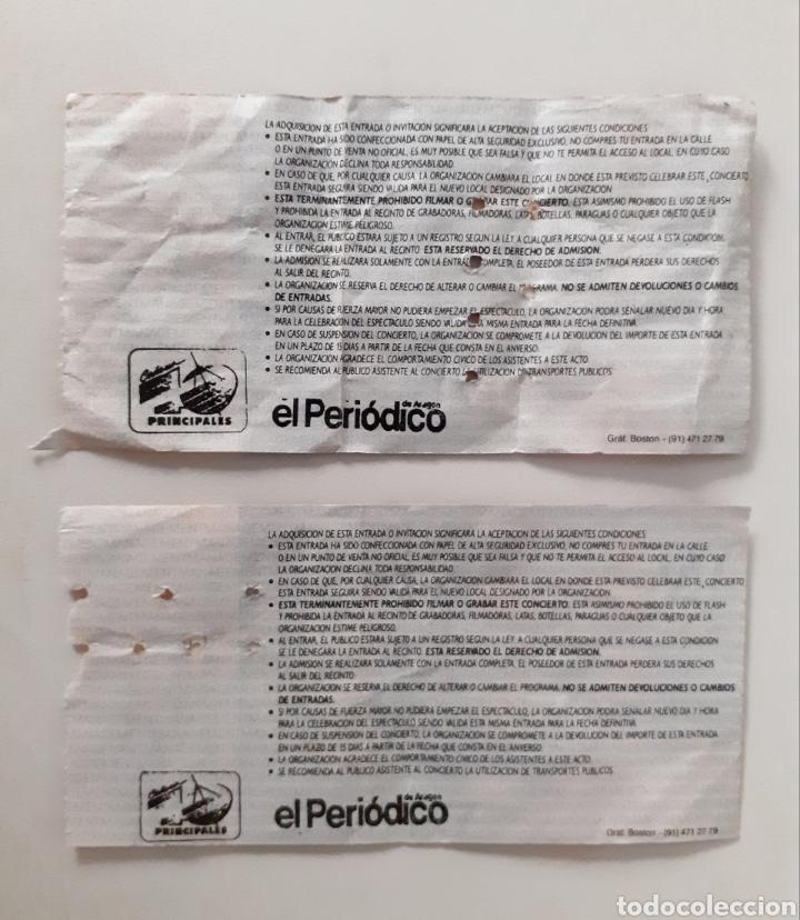 Entradas de Conciertos: La Unión, 2 Entradas Concierto Año 92 Gira tren de largo recorrido Zaragoza - Foto 2 - 249158400