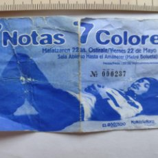 Entradas de Conciertos: 7 NOTAS 7 COLORES ENTRADA-TICKET - CONCIERTO BILBAO 1998. Lote 251284350