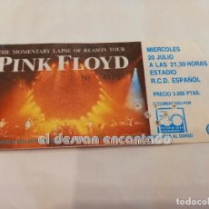 Bilhetes de Concertos: PINK FLOYD. THE MOMENTARY LAPSE OF REASON TOUR. ENTRADA ORIGINAL. ESTADIO RCD ESPAÑOL. Lote 252934085