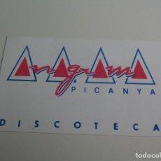 Entradas de Conciertos: VIP INVITACION FLYER DISCOTECA ANAGRAMA - PICANYA - VALENCIA - RUTA BAKALAO. Lote 253798860