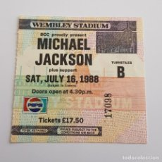 Entradas de Conciertos: MICHAEL JACKSON . 16 - 7 - 1988 WEMBLEY STADIUM.. Lote 253882640