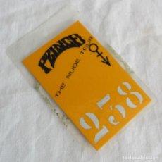 Entradas de Conciertos: PASE BACKSTAGE CONCIERTO PRINCE THE NUDE TOUR. Lote 253894850