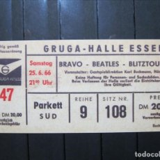 Entradas de Conciertos: FACSIMIL ENTRADA CONCIERTO BEATLES ALEMANIA 26.6.1966 BRAVO-BLITZTOUR!!!. Lote 253908605