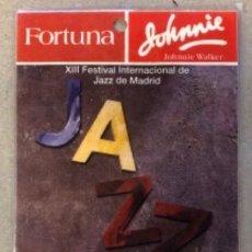 Entradas de Conciertos: NINA SIMONE. PASE DE BACKSTAGE CONCIERTO EN XIII FESTIVAL DE JAZZ DE MADRID EL 18/11/1992. PLASTIFIC. Lote 147198974