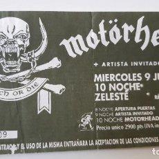 Bilhetes de Concertos: MOTÖRHEAD - ENTRADA CONCIERTO BARCELONA 1993.. Lote 254150025
