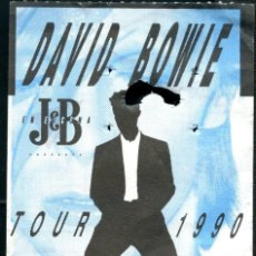 Bilhetes de Concertos: DAVID BOWIE ENTRADA CONCIERTO 12 SEPTIEMBRE 1990. Lote 254392575