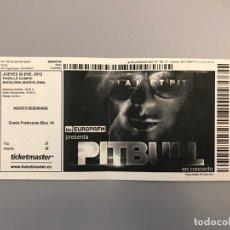 Entradas de Conciertos: ENTRADA CONCIERTO PITBULL - GIRA 2012 - PALAU OLÍMPIC BADALONA. Lote 254575725