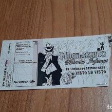 Entradas de Conciertos: ENTRADA CONCIERTO -- MUCHACHITO BOMBO INFIERNO -- 17/12/2007 -- LA RIVIERA, MADRID. Lote 254885555