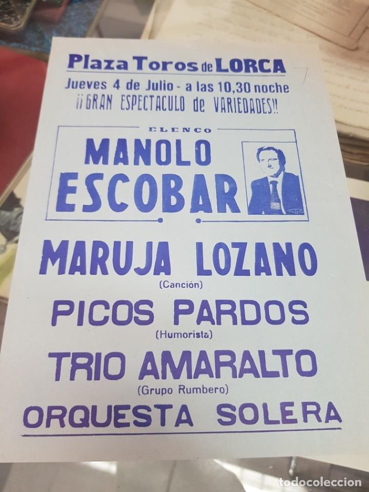 CONCIERTO MANOLO ESCOBAR MARUJA LOZANO VARIEDADES PLAZA DE TOROS DE LORCA MURCIA (Música - Entradas)
