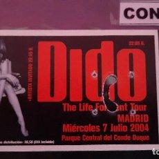 Biglietti di Concerti: CONCIERTO DE DIDO (CON-182). Lote 257599960
