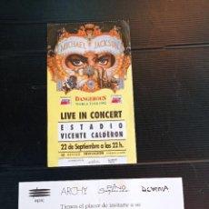 Billets de concerts: ENTRADA CONCIERTO MICHAEL JACKSON DANGEROUS 1992, ESTADIO VICENTE CALDERÓN. Lote 257621550