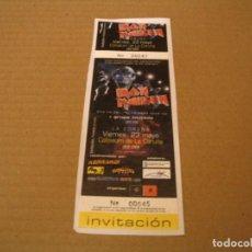 Biglietti di Concerti: IRON MAIDEN ENTRADA INVITACIÓN CORUÑA 2003 GIRA TOUR COMPLETA ENGANCHADA GLUED 045. Lote 259870245