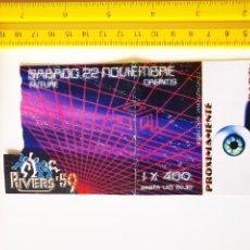 Biglietti di Concerti: FLYER INVITACION ENTRADA DISCOTECA RIVERS 59 MADRID REMEMBER SESSION JANO HERTZ LUISMA DJ. Lote 260531685