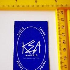 Biglietti di Concerti: FLYER INVITACION ENTRADA DISCOTECA PUB KEA TARDE MADRID PASE DE PUERTA CTRA BARCELONA KM 9200. Lote 260672540