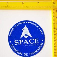 Biglietti di Concerti: FLYER INVITACION ENTRADA DISCOTECA SPACE OF SOUND MADRID ESTACION DE CHAMARTIN MACUMBA HOUSE TRANCE. Lote 260686705