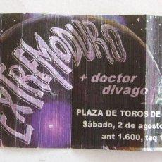 Entradas de Conciertos: ENTRADA CONCIERTO EXTREMODURO + DOCTOR DIVAGO BENIDORM 2 AGOSTO 1997. Lote 261334305