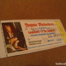Entradas de Conciertos: YNGWIE MALMSTEEN ENTRADA INVITACIÓN 1990 BCN GIRA TOUR ENGANCHADA GLUED 259. Lote 262074750