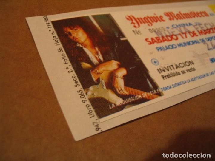 Entradas de Conciertos: YNGWIE MALMSTEEN ENTRADA INVITACIÓN 1990 BCN GIRA TOUR ENGANCHADA GLUED 259 - Foto 2 - 262074750