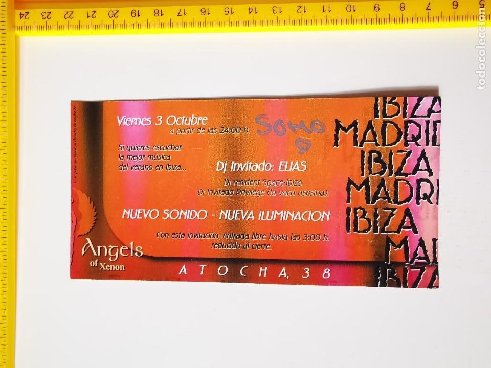 Entradas de Conciertos: FLYER INVITACION ENTRADA DISCOTECA XENON ANGELS MADRID PASE DE PUERTA ATOCHA 38 CONECTING PEOPLE - Foto 2 - 262075065