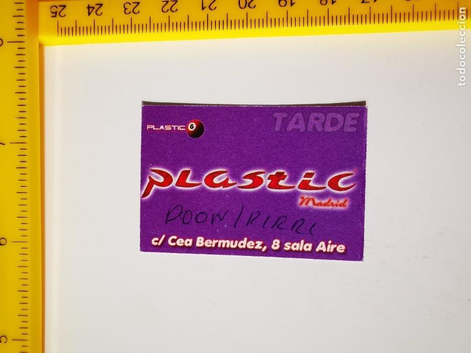 FLYER INVITACION ENTRADA PASE DE PUERTA TARDE DISCOTECA PLASTIC MADRID CEA BERMUDEZ 8 (Música - Entradas)