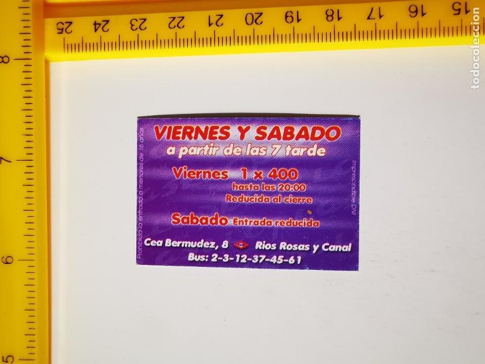 Entradas de Conciertos: FLYER INVITACION ENTRADA PASE DE PUERTA TARDE DISCOTECA PLASTIC MADRID CEA BERMUDEZ 8 - Foto 2 - 262076515