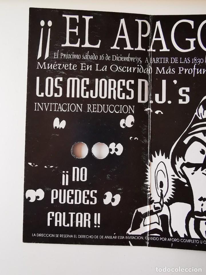Entradas de Conciertos: FLYER INVITACION ENTRADA DISCOTECA DIVINO AQUALUNG MADRID EL APAGON Pº ERMITA DEL SANTO - Foto 4 - 262079040