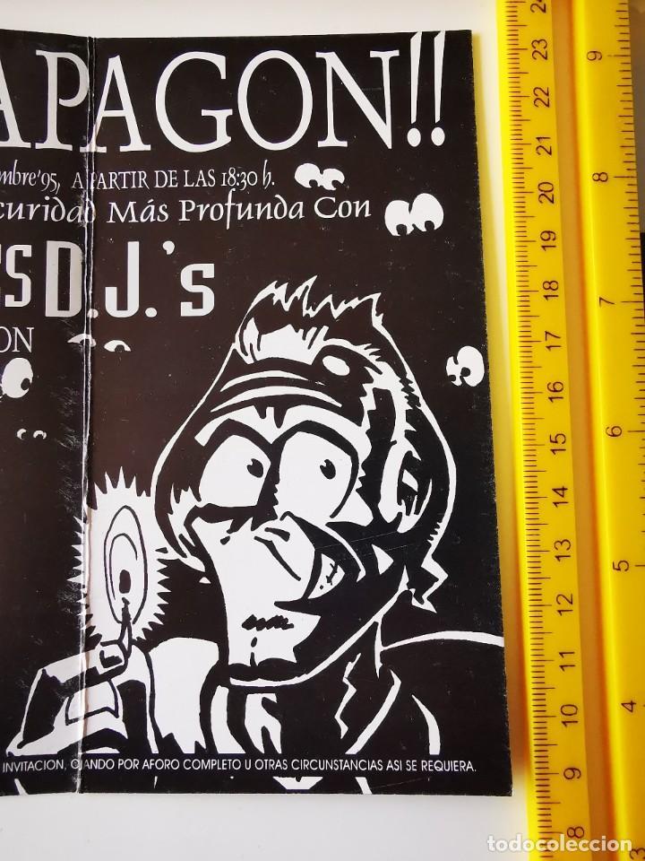 Entradas de Conciertos: FLYER INVITACION ENTRADA DISCOTECA DIVINO AQUALUNG MADRID EL APAGON Pº ERMITA DEL SANTO - Foto 5 - 262079040