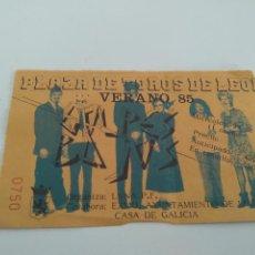 Biglietti di Concerti: ENTRADA GOLPES BAJOS LEON 24-07-1985. CORTADA POR UN LATERAL. BUEN ESTADO. Lote 262298675