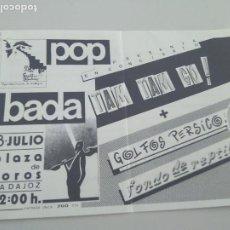 Biglietti di Concerti: ENTRADA TAM TAM GO¡ BADAJOZ. 1989?. CORTADA POR UN LATERAL. BUEN ESTADO. Lote 262302730