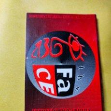 Biglietti di Concerti: FLYER. INVITACIÓN. ENTRADA. DISCOTECA THE FACE. VALENCIA. AÑOS 80/90.. Lote 262305245