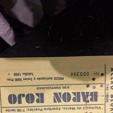 Entradas de Conciertos: BARON ROJO-ENTRADA. Lote 262373800