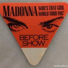 Entradas de Conciertos: PASE BACKSTAGE MADONNA TOUR 1987. Lote 262489875