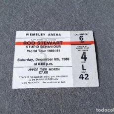 Entradas de Conciertos: ENTRADA DEL WEMBLEY ARENA. CONCIERTO DE ROD STEWART STUPID BEHAVIOUR WORLD TOUR 1980. CONCERT TICKET. Lote 263086015