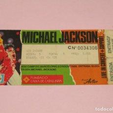 Billets de concerts: ANTIGUA ENTRADA MICHAEL JACKSON LIVE IN CONCERT + SUPPORT - NOU CAMP 9 D'AGOST DE 1988. Lote 263645430