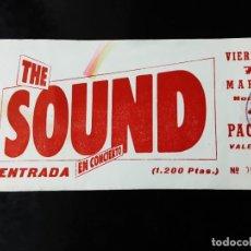 Entradas de Conciertos: ENTRADA CONCIERTO, THE SOUND, ARENA AUDITORIUM, MARZO 1986. Lote 264164400