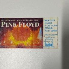 Entradas de Conciertos: PINK FLOYD. THE MOMENTARY LAPSE OF REASON TOUR. ENTRADA ORIGINAL.3,18 ENVÍO CERTIFICADO.. Lote 266976329