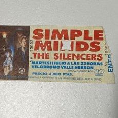 Bilhetes de Concertos: ENTRADA SIMPLE MINDS, VER FOTOS.3,18 ENVÍO CERTIFICADO.. Lote 266976579
