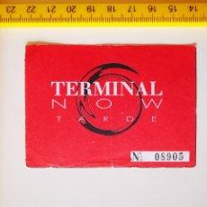 Billets de concerts: FLYER INVITACION ENTRADA DISCOTECA TERMINAL NOW MADRID TARDE ARGÜELLES 1996 DJ RUDY MARIO. Lote 267367454