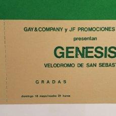 Billets de concerts: GENESIS ANTIGUA ENTRADA. Lote 267456414
