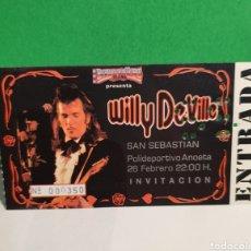 Billets de concerts: WILLY DEVILLE ENTRADA ANTIGUO CONCIERTO. Lote 267481159