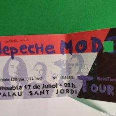 Billets de concerts: DEPECHE MODE ENTRADA ANTIGUO CONCIERTO USADA. Lote 267482384